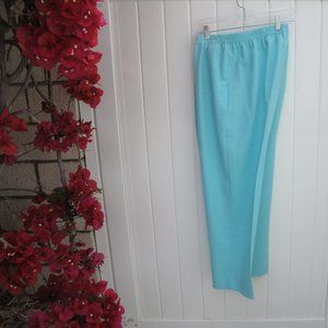 Da Rue for Draper's & Damon's Blue Poly Pants 18